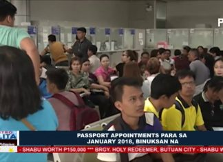 DFA: Passport appointments para sa January 2018, binuksan na