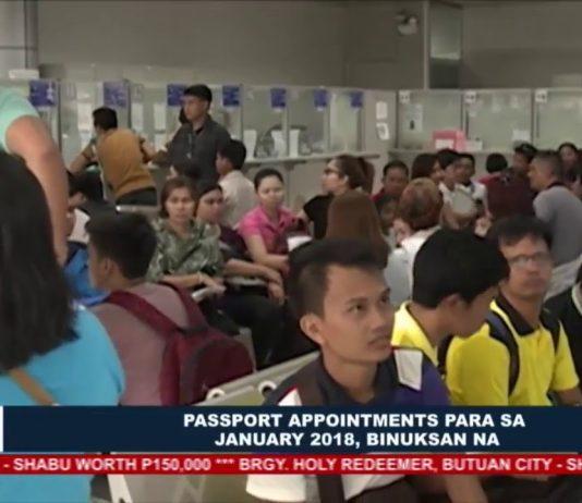DFA: Passport appointments para sa January 2018, binuksan na