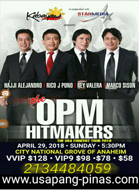 The OPM Hitmakers at City National Grove Anaheim April 29, 2018 U.S. Tour