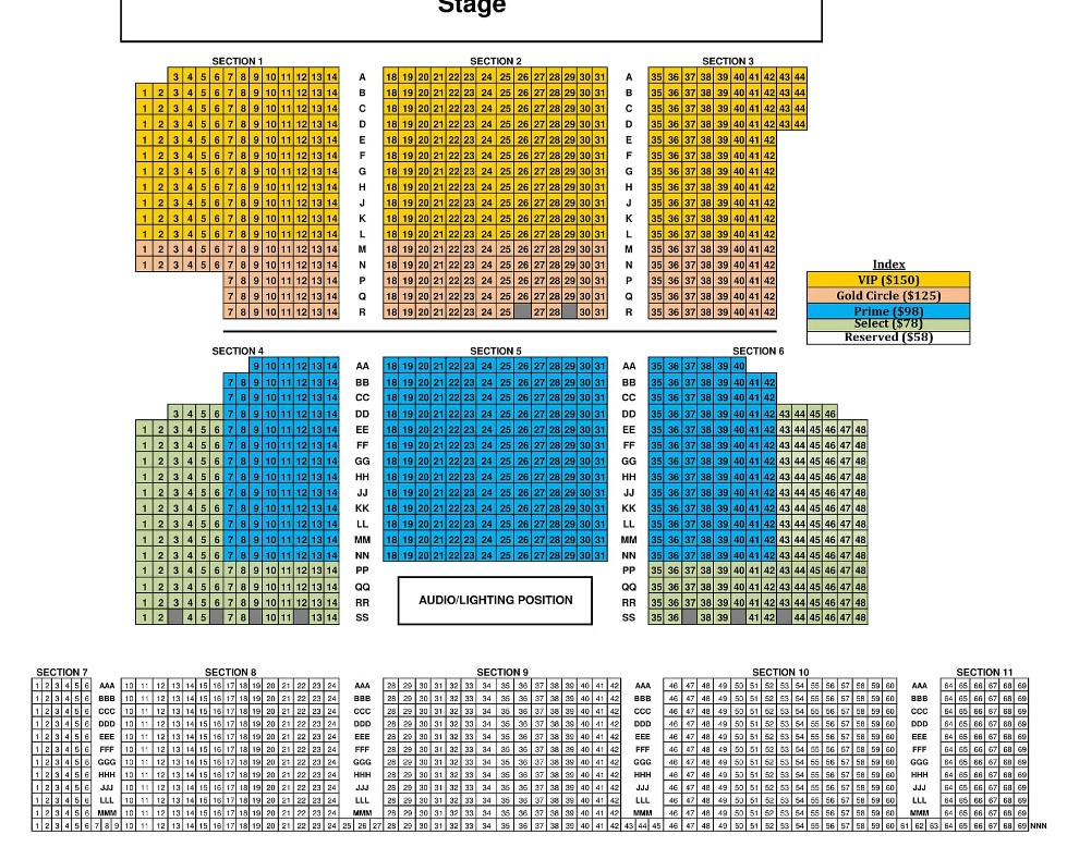 Cannery Seating Chart - Sarah Geronimo This Is Me 2018 Las Vegas