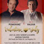David Pomerance Back To Back with Rey Valera Valentine in July Aratani Theater Los Angeles July 22 2018