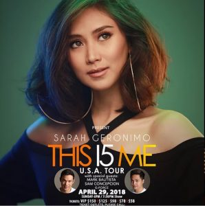 Sarah Geronimo This I5 Me Live in Las Vegas U.S. Tour , April 29, 2018 Cannery Casino & Hotel